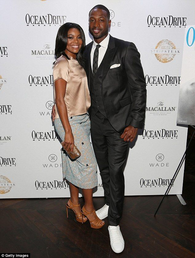 Miami Heat honored: Gabrielle Union and Dwyane Wade attended Ocean Drive magazine's party in honor of the NBA star's feature cover story in theOctober Men's Issue