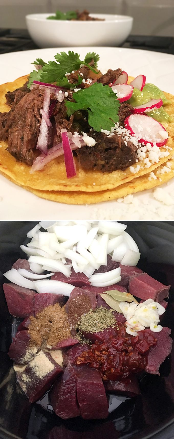 Smoky Slow Cooked Elk Meat Tacos // Wild Game Barbacoa