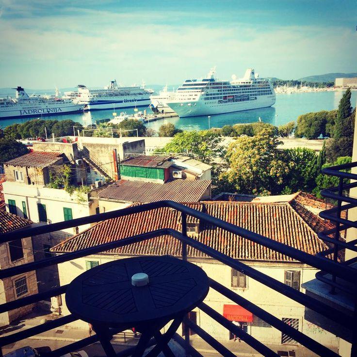 View from balcony #hotelluxesplit #hotel #luxe #boutique #design #split #croatia #travel #traveling #explore #view #suite #balcony