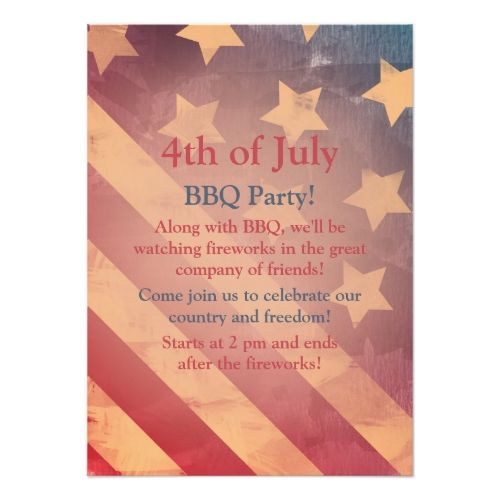 19 best 20 must have 4th of july invitations for 2018 images on gradient flag 4th of july party invitation stopboris Images