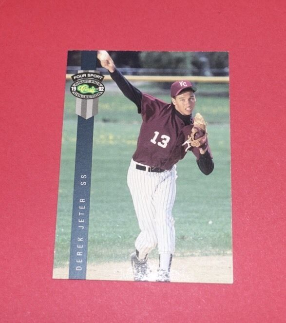1992 Draft Picks Derek Jeter RC! #231 See Pics! Rookie Card! Estate Find!