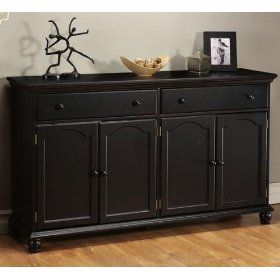14 best images about buffets credenzas sideboards on pinterest arts and crafts sideboard - Black dining room buffet ...