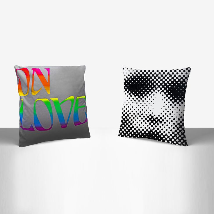 Henzel studio x richard phillips x art pillows pillow