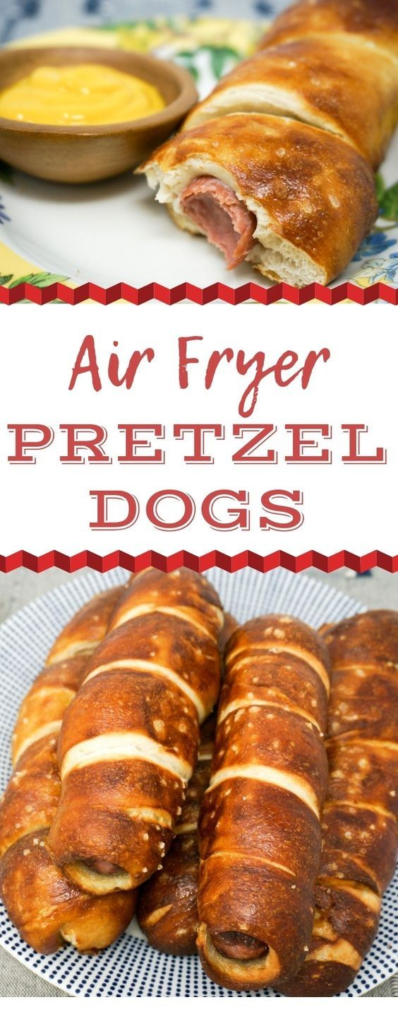 Air Fryer Pretzel Dogs are a great snack idea for your