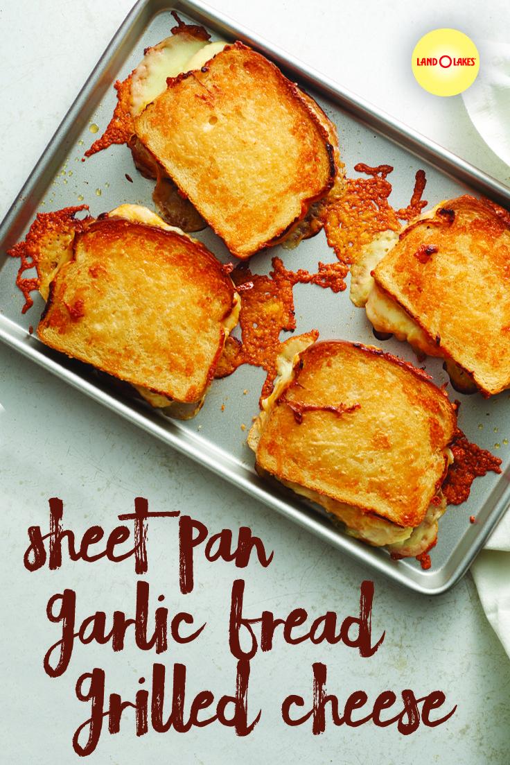 sheet pan garlic bread