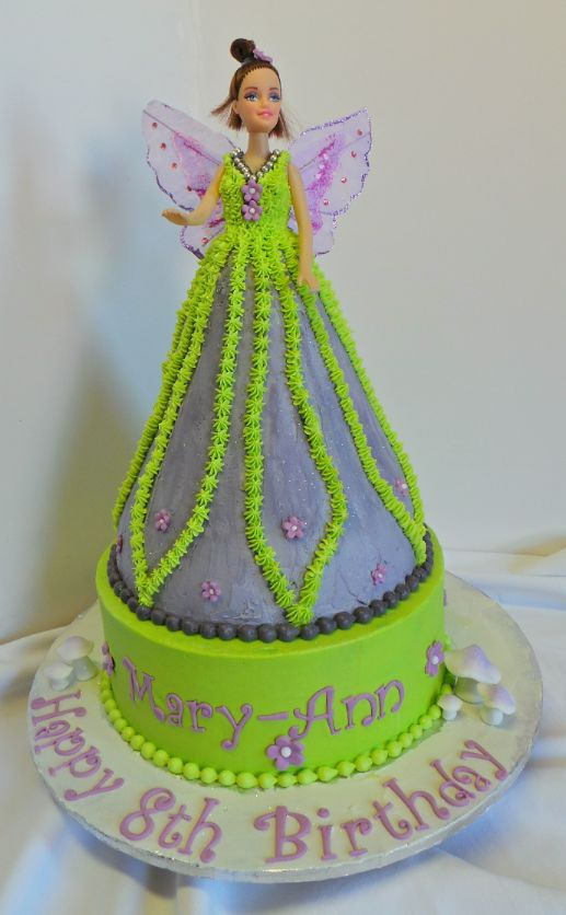 Fairy Barbie Doll Cake Design Was Brought In By Client From The - Birthday cake doll designs