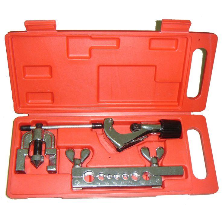 Flaring tool fungsinya untuk mengmbangkan ujung pipa agar dapat disambung dengan sambungan berulir (flare fitting)