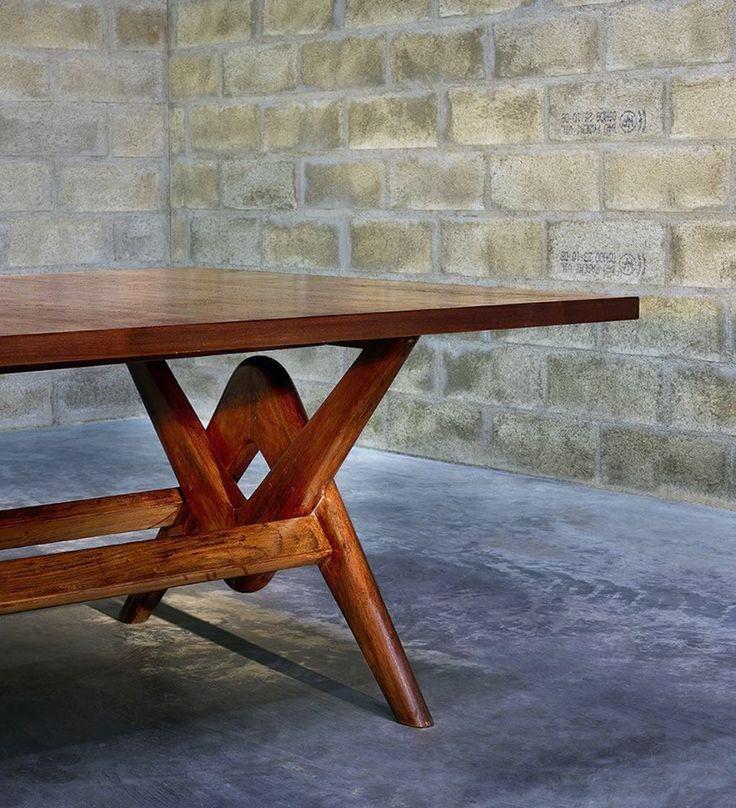 Solid Teak Table Designed By Pierre Jeanneret In 1955
