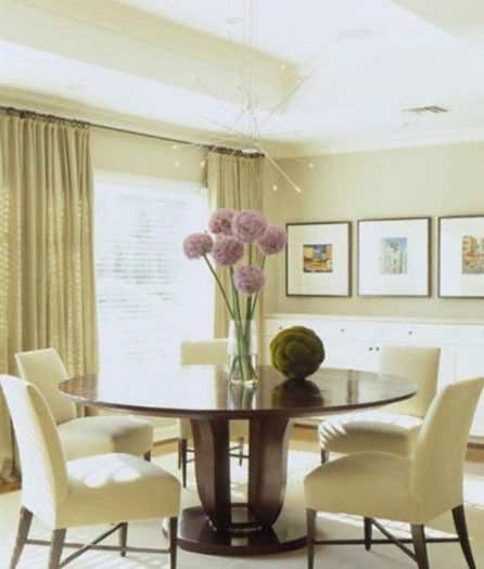 Small Dining Room Decorating Ideas With Round Table Design