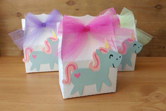 Unicorn Favors  Party Favors  Unicorn Favor Boxes  Girl