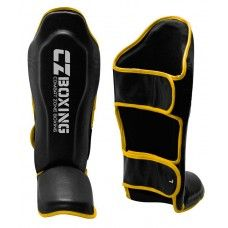 Customized Muay Thai Shin Guards Supplier UK, Shin Guards developed in full Genuine Leather construction with hand molded.