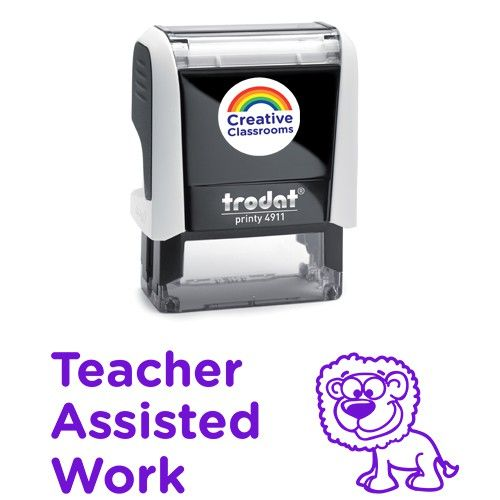 Teacher Assisted Work Stamp | Stamps