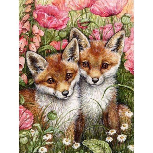 Realistic Baby Fox Square Diamond Painting Animal Drawings Animal Art Fox Art