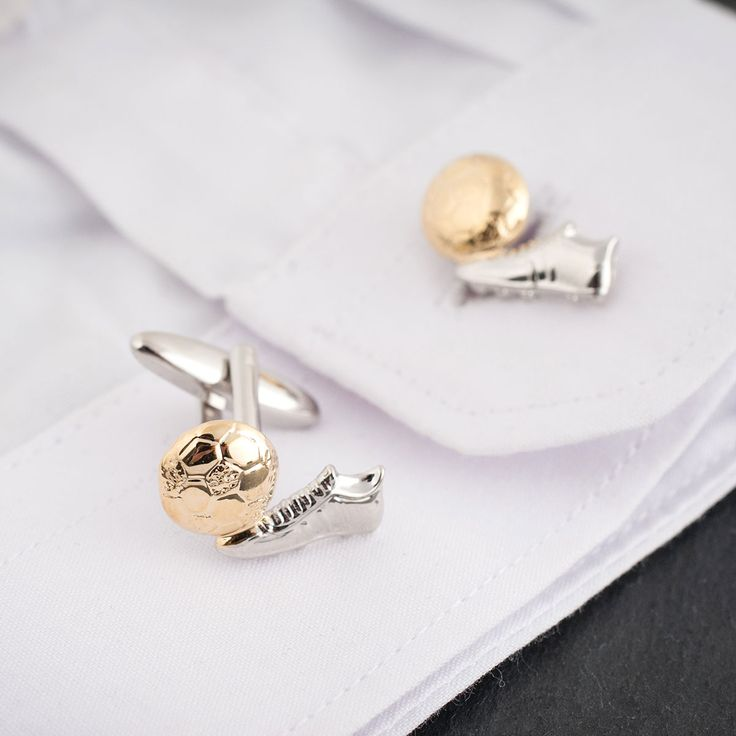 Football Boot Cufflinks In Personalised Box | Engraved Gifts By Getting Personal