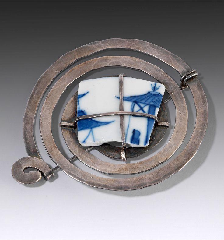 Brooch   Alexander Calder. Silver, steel and ceramic. ca. 1940   93,940€ ~ sold (June '14)
