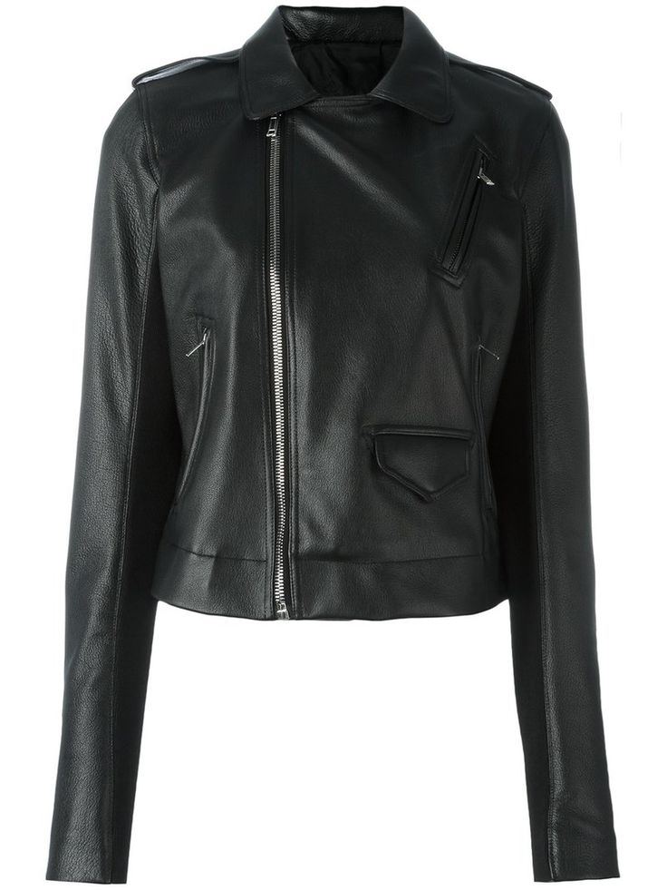 ¡Cómpralo ya!. Rick Owens - Stooges Biker Jacket - Women - Cotton/Goat Skin/Cupro/Virgin Wool - 44. Rick Owens is renowned for his avant-garde aesthetic that pushes the boundaries of traditional shapes. This black goatskin, virgin wool and cotton Stooges biker jacket from Rick Owens features a cutaway collar, epaulettes on the shoulders, an off-centre front zip fastening, front zipped pockets, a front flap pocket and long sleeves. Size: 44. Gender: Female. Material: Cotton/Goat…