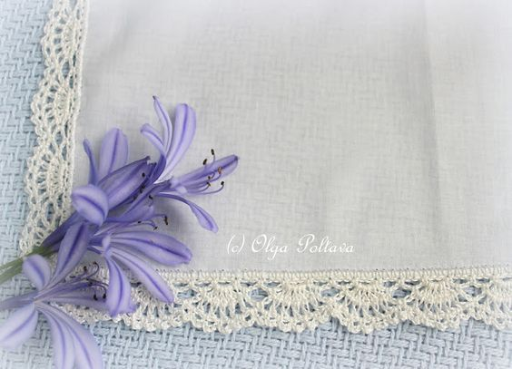 Lacy Crochet: Lace Edging for a Handkerchief, Simple Crochet Pattern