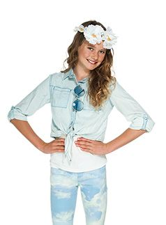 Urban Angel Pumpkin Patch kids fashion spring/summer collection 2013 chambray tie front shirt