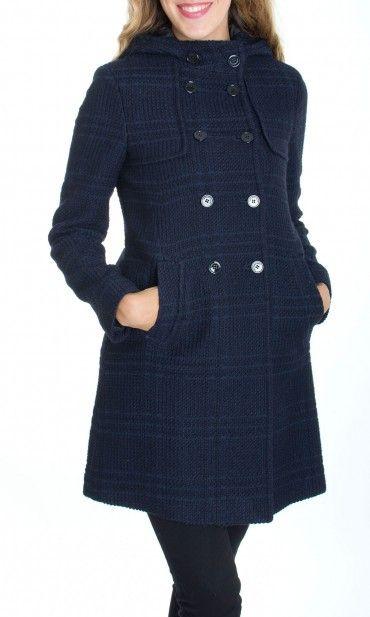 Trussardi Jeans | Cappotto Montgomery Trussardi Jeans Donna Col. Blu - Shop Online su Dursoboutique.com 56S57