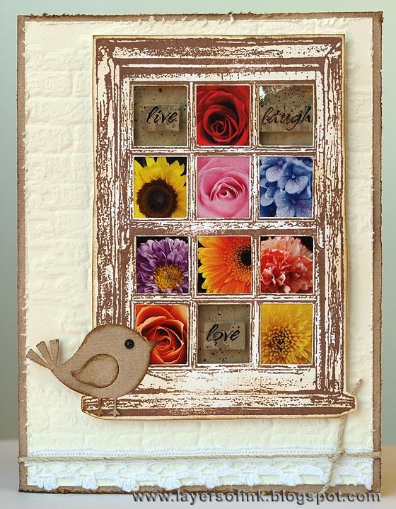 #darkroomdoor Window Frame Stamp DDFR002. Card created by Anna-Karin Evaldsson.