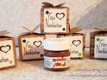 Mini Nutella für Naschkatzen in Schmetterlings Box