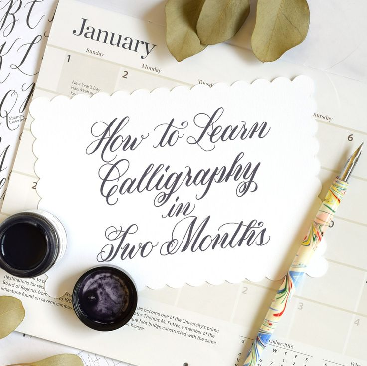 17 Best Ideas About Learn Calligraphy On Pinterest