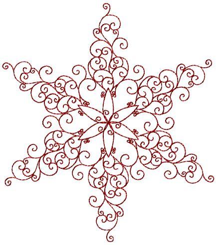 Snowflake Redwork 6