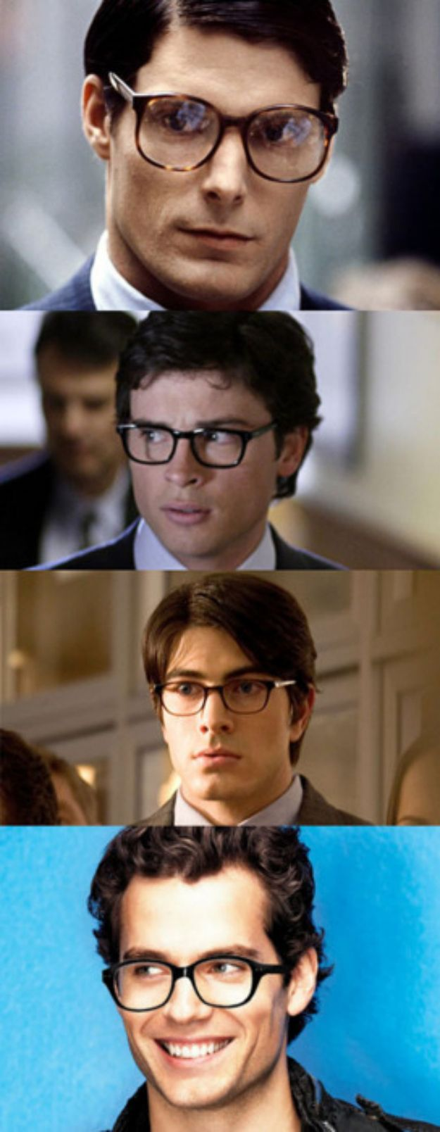 Get it, Clark. Cheers to underrated nerds everywhere! | Even Superman Is Sexier With Glasses