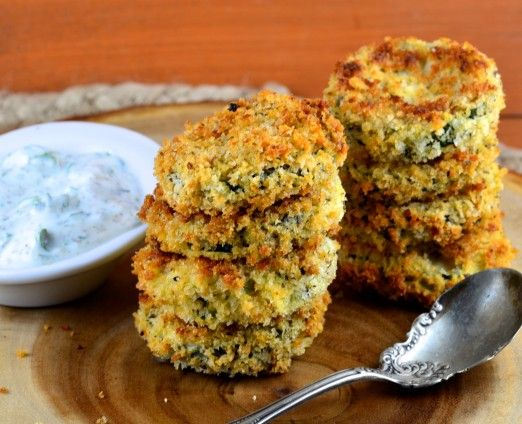 Oven-Fried Zucchini Chips