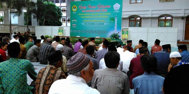 Pondok Pesantren Wali Barokah Kediri menggelar buka puasa bersama dan santunan anak yatim , Selasa (14/6).