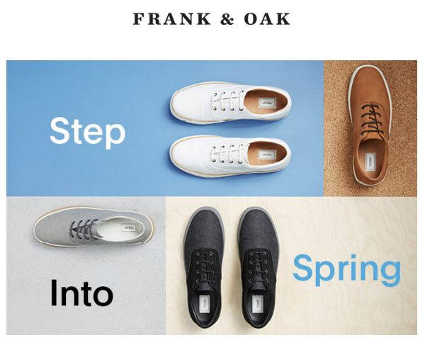 27 best email marketing images on pinterest email marketing email frank and oak walk this way fandeluxe Choice Image