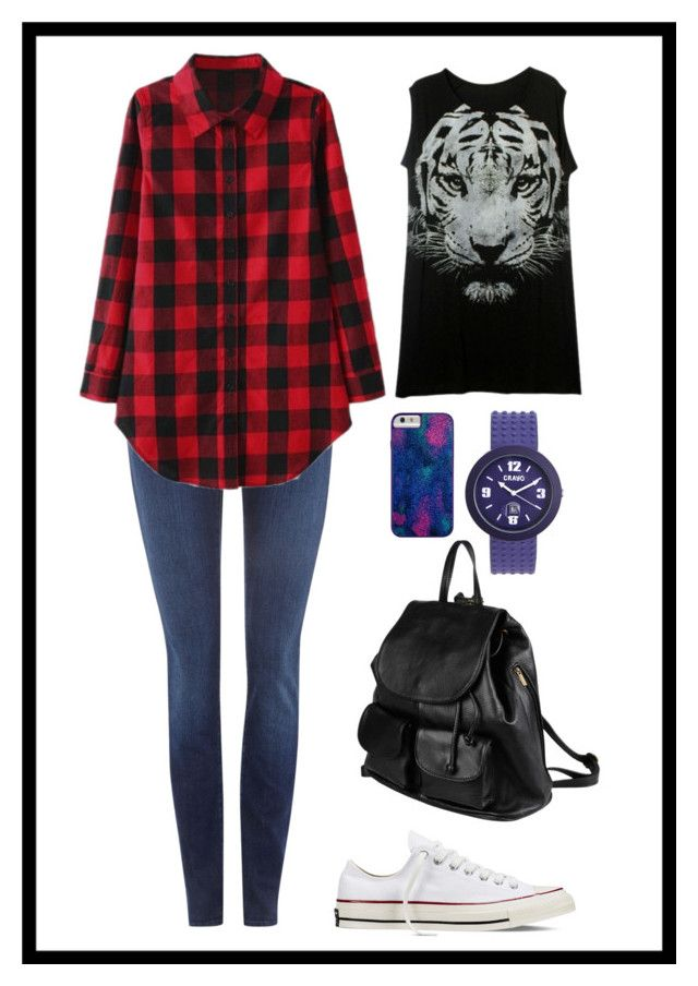 R by dzihan on Polyvore featuring 7 For All Mankind, Converse, PARENTESI, Crayo and Case-Mate