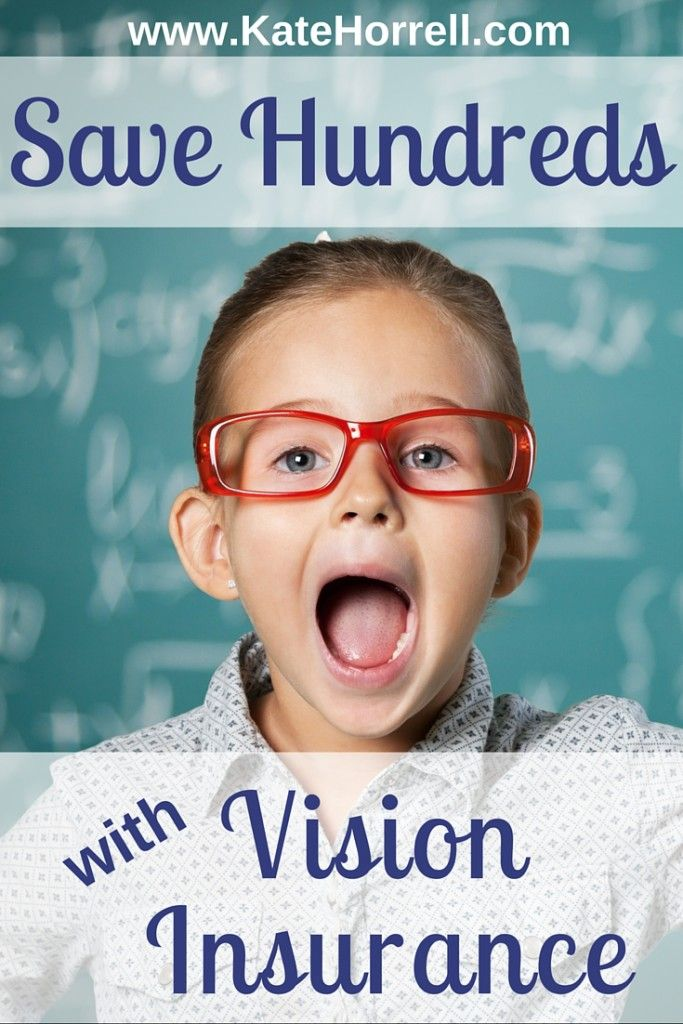 You can save hundreds of dollars each year by purchasing vision insurance.