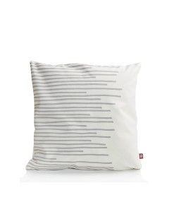 www.popsiclestuff.nl | pillow MAKE  MY DAY, pattern Stripes, white and grey
