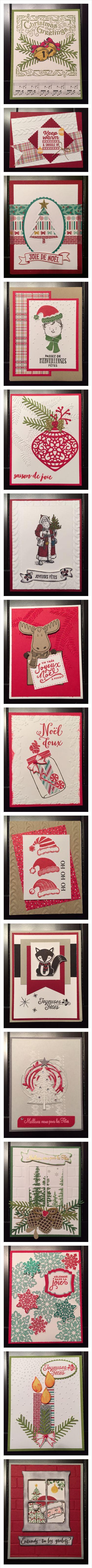 L'Estampe Frivole (Stampin'UP) Christmas Cards 1 Cartes de Noel 1