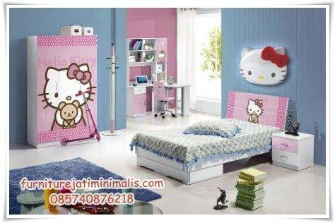 kamar tifdur anak hello kitty