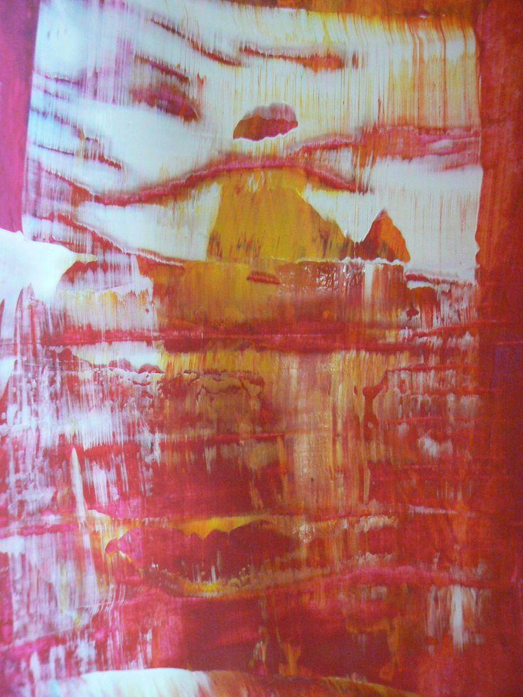 A la manière de Richter, peinture au rouleau et à la règle - Léon, pas sur les murs !