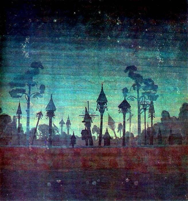 "Микалоюс Чюрленис   (1875-1911)  ""Жемайтийское кладбище"""