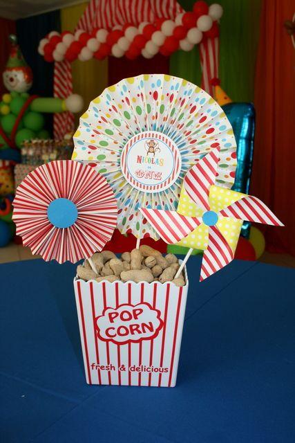 Décoration gourmande sur le thème du cirque et de la fête foraine ! vous…
