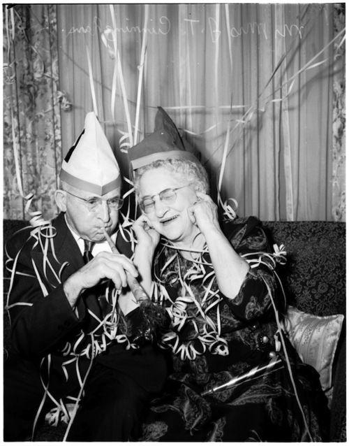 Mr. & Mrs. Cunningham celebrate their 60th anniversary, Dec., 31, 1951