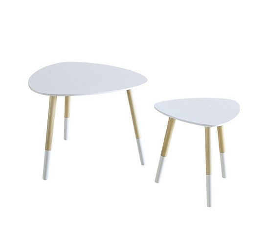 simple tables basses tables gigognes scandinaves kaysa blanc with tables gigognes maison du monde. Black Bedroom Furniture Sets. Home Design Ideas
