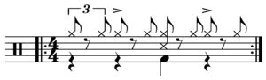 One drop rhythm - popularized by Bob Marley and the Wailers