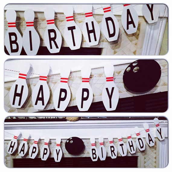 Bowling Birthday Banner by alittledottie on Etsy