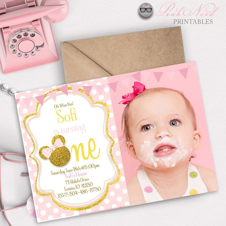 Pink Zebra Print Girls 1st Birthday Invitation: Best 25+ Minnie Mouse Baby Shower Ideas On Pinterest