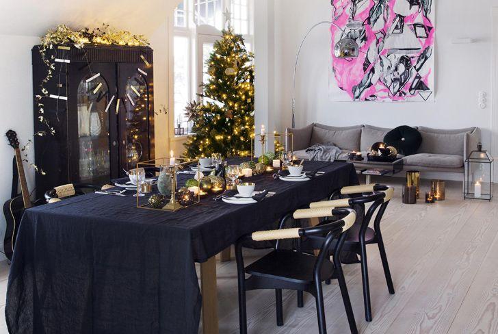 Модный праздничный декор квартиры в Осло