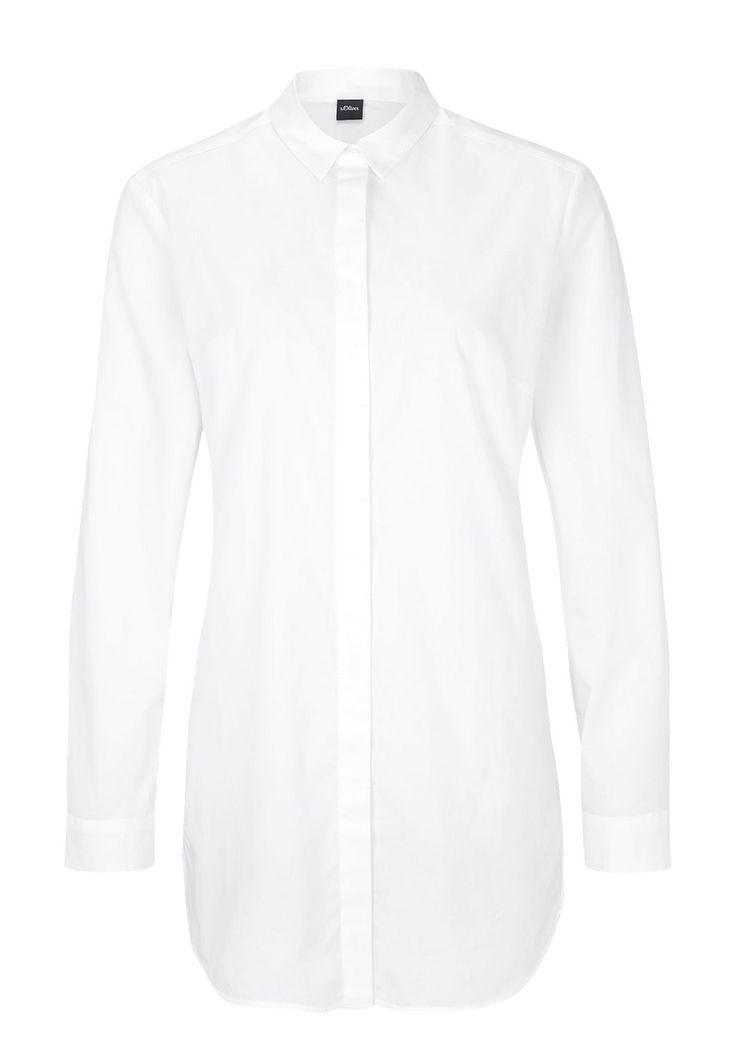 Stretchige Longbluse von s.Oliver. Entdecken Sie jetzt topaktuelle Mode für Damen, Herren und Kinder online und bestellen Sie versandkostenfrei.