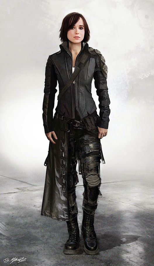 Ellen Page - Concept art alternate costumes of Kitty Pryde ...