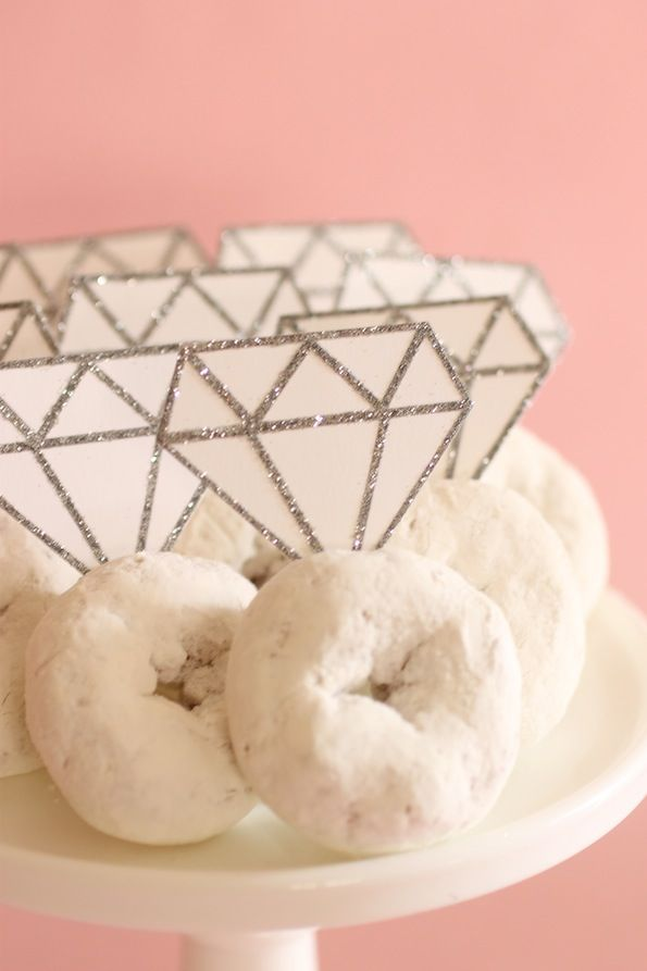 Donut diamond rings.