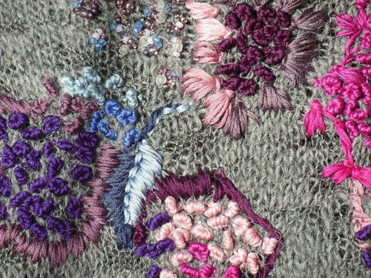 handmade alpaca sweater (detail - cotton, Toho) by Agata Gadek - www.manufakturaubioru.decoart.pl