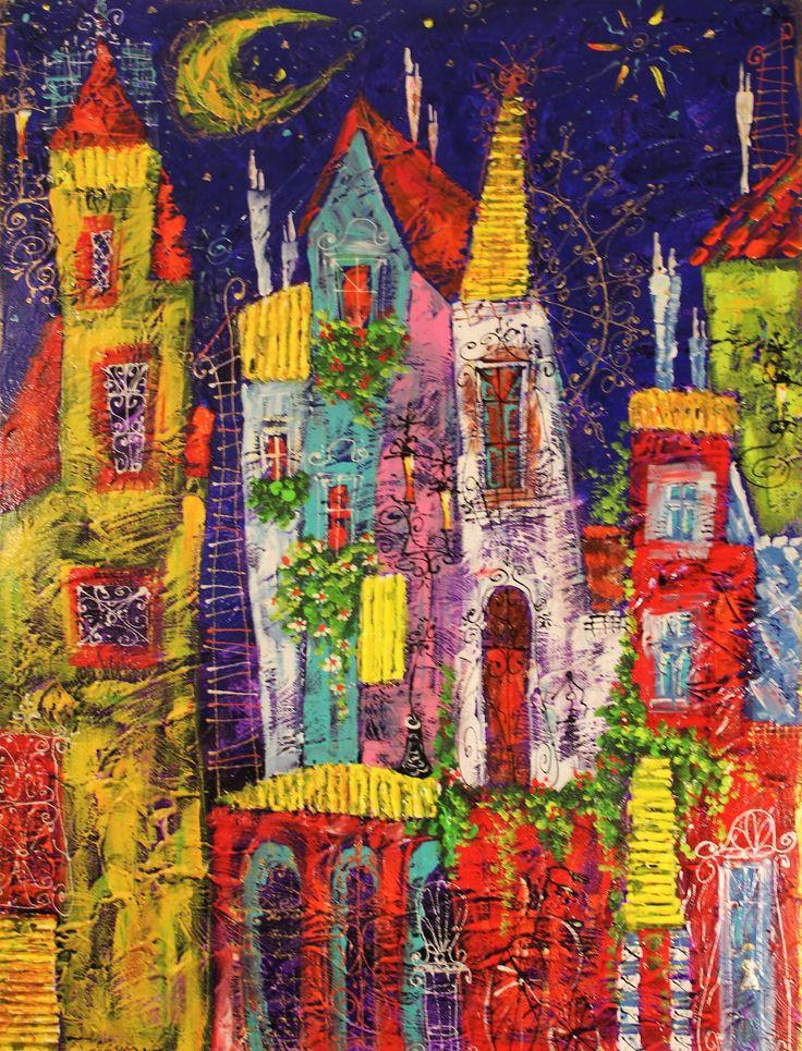 50x60, mixtechnik Painting by Tatyana Murova